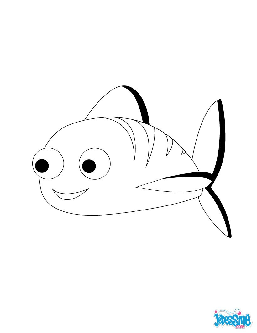 Poisson d avril rayé Coloriage Petit poisson d avril