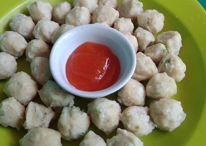 Resep: Bakso Ayam Kenyal Tanpa Baking Powder Super