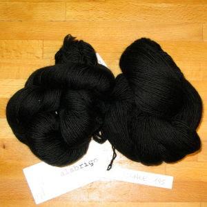 Black Malabrigo lace