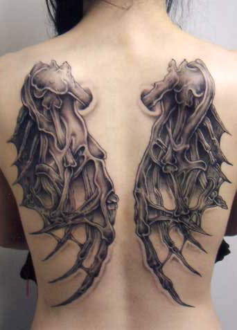Back See Horse Angel Wings Tattoo Tattoomagz