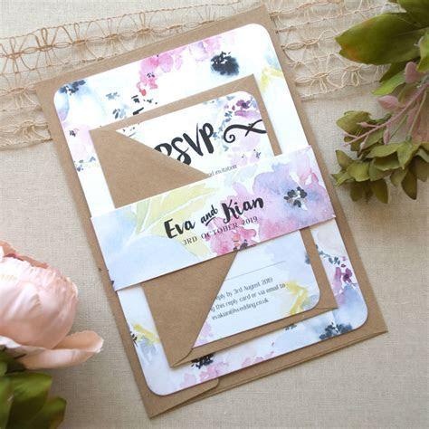floral bloom wedding invitation by love wedding print