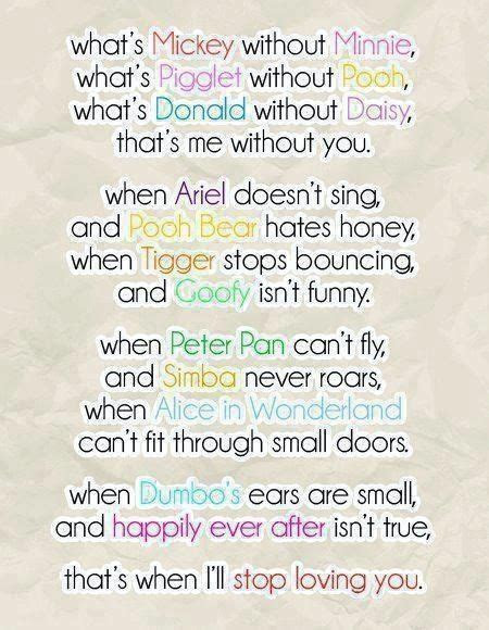 Disney love poem