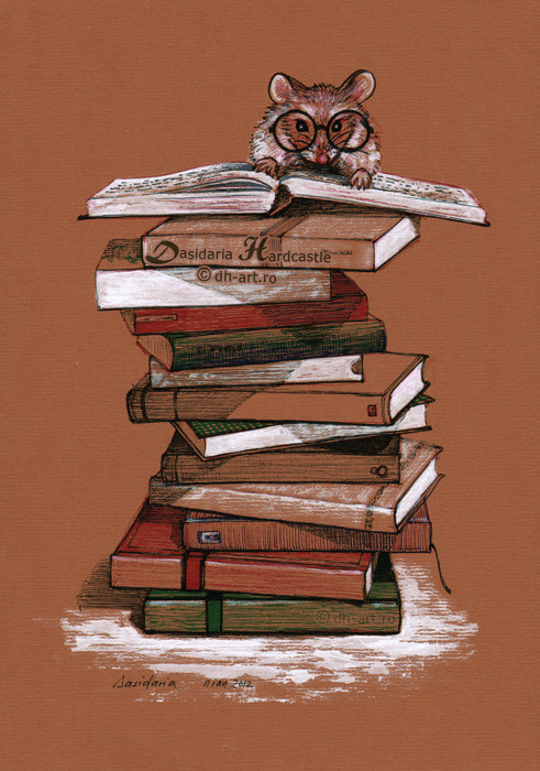 bookporn:  The library mouse by dh6art