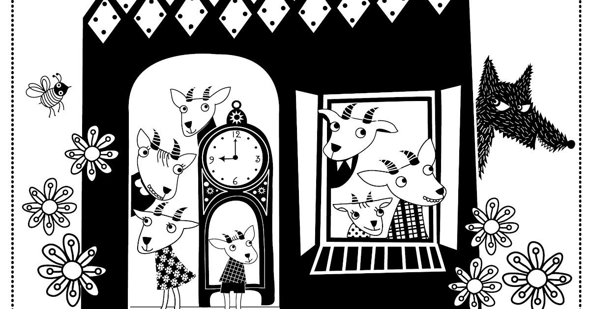 De Oude Speelkamer  Kleursprookje De wolf en de zeven geitjes