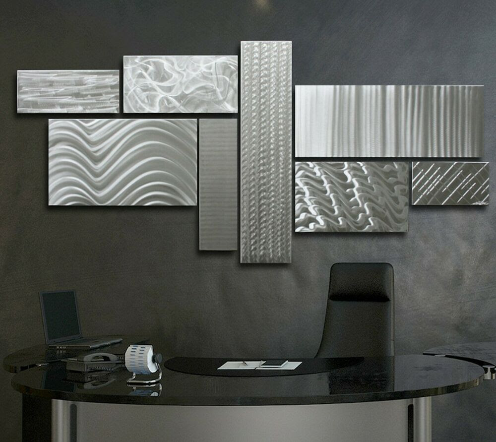 Large Modern Metal Abstract Wall Sculpture Contemporary ...
