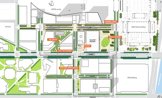 Plan of Schuylkill Yards project
