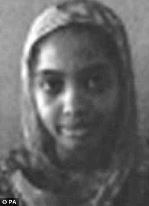 Missing: Zeenat Abdala, 16 (left) was last seen in Croydon, South Lonndon, yesterday