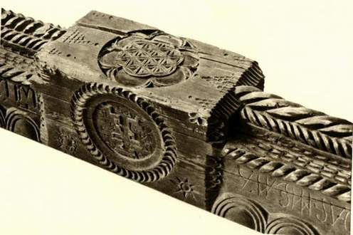 Деталь дерев'яного сволока