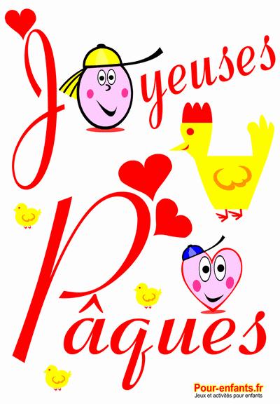 Joyeuses Paques a imprimer dessins coloriages