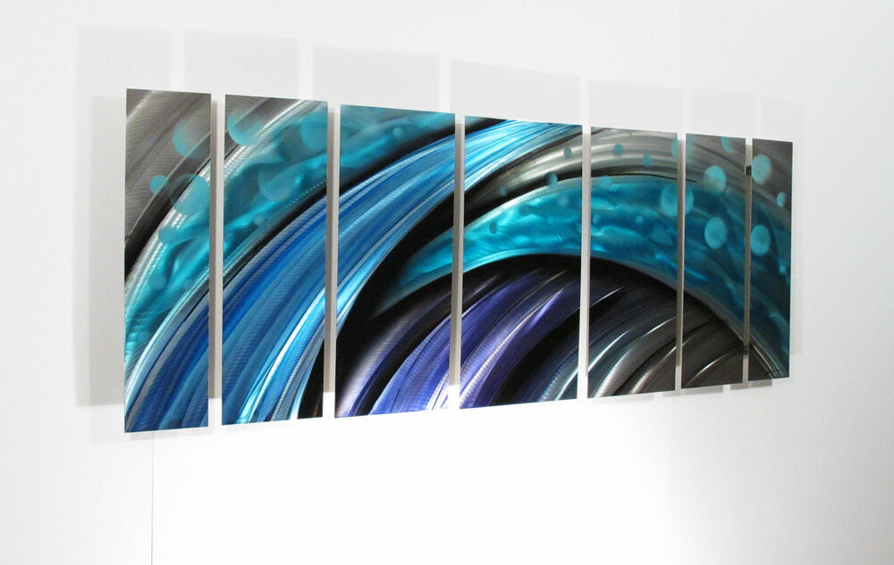 Large Metal Wall Art Sculpture Abstract Wave Painting ...