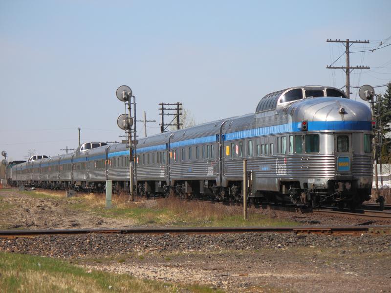 VIA's Canadian passenger train in Winnipeg, by Steve Boyko