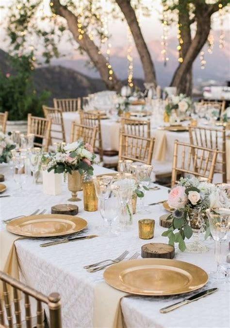 43 Glam Gold And White Wedding Ideas   beach wedding