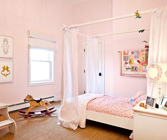 Twin Canopy Bed - Traditional - girl's room - Jaffa Group