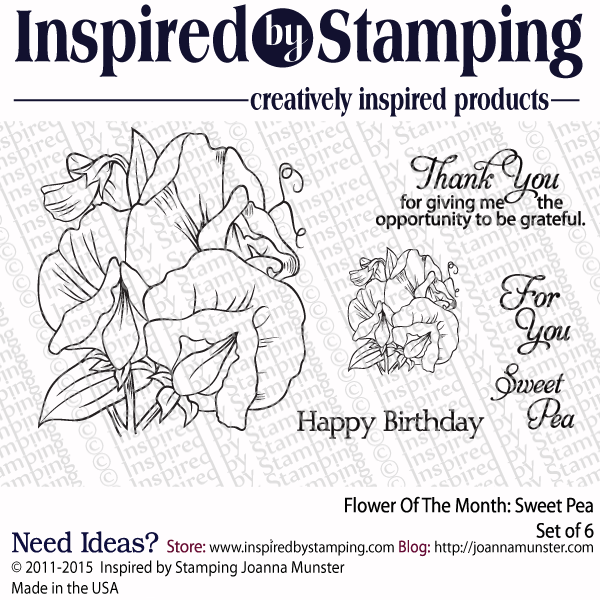 Inspired by Stamping Flower Of The Month Sweet Pea stamp set