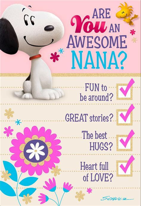 Peanuts® Awesome Nana Mother's Day Card   Greeting Cards