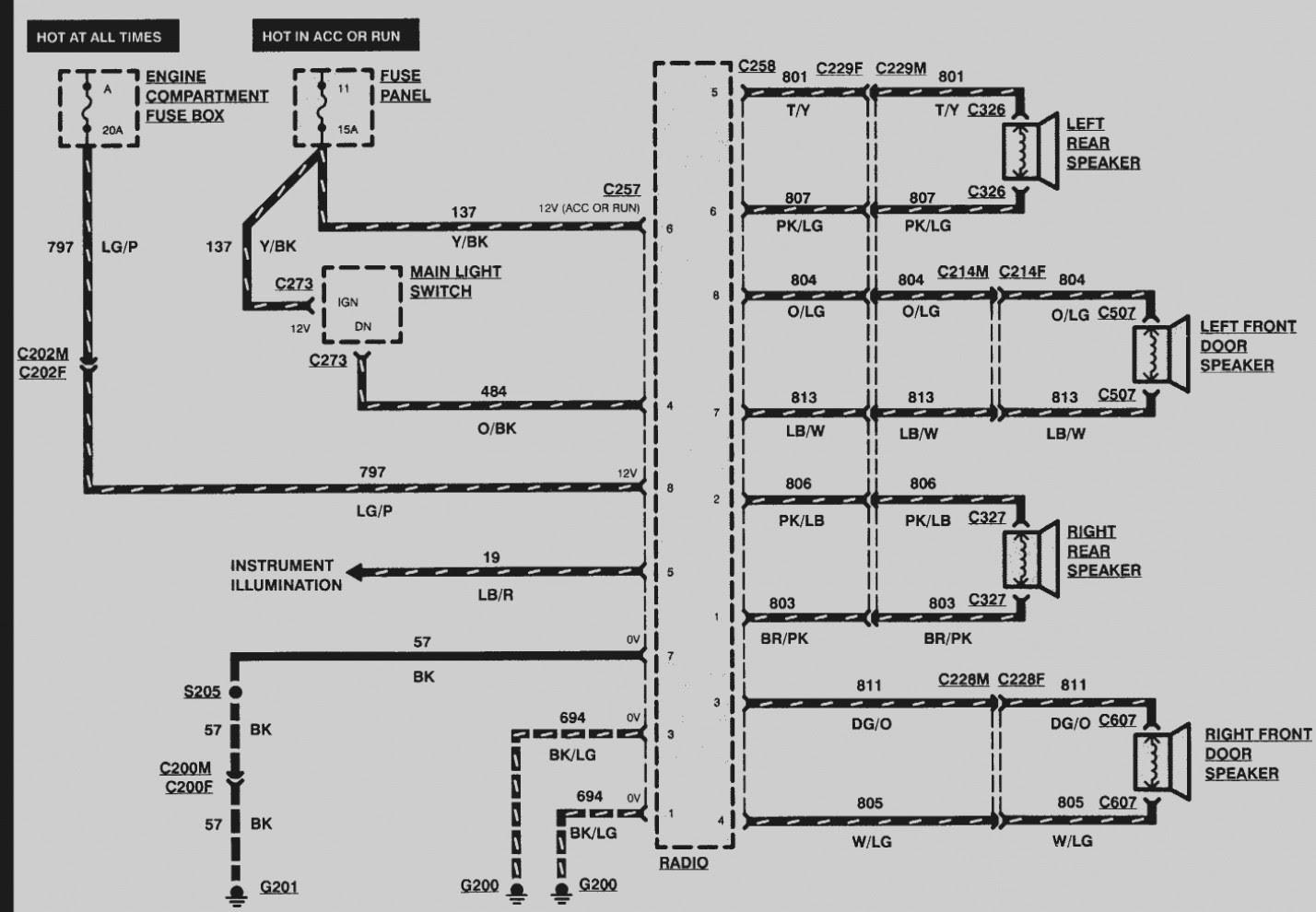 2002 Mercury Mountaineer Radio Wiring Diagram - Hanenhuusholli