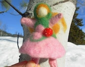 Felted Wool Strawberry Girl