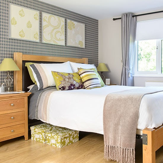 Lime green and grey bedroom | Summer decorating ideas ...