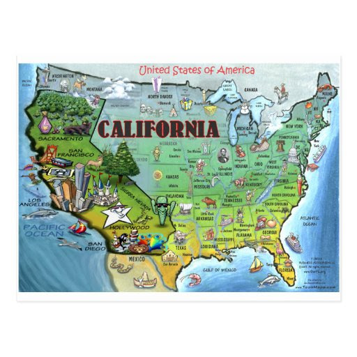 USA Map California
