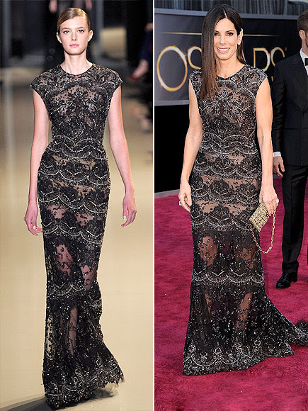 SANDRA IN ELIE SAAB photo | Sandra Bullock