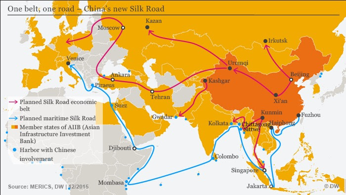 Image result for China's Dream Global hegemony is;lk road