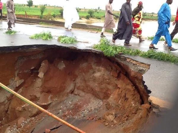 Heavy Rainfall Destroys Bridge In Sokoto [See Photos]