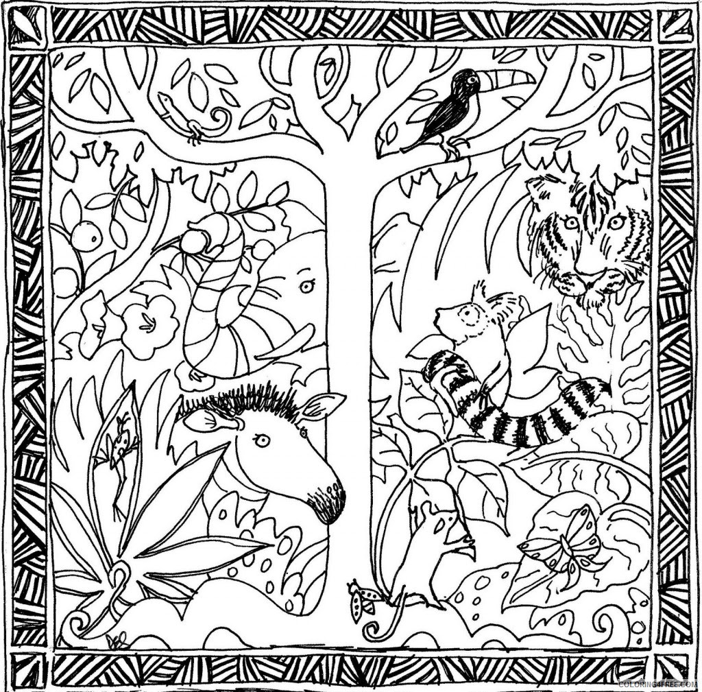 Amazon Rainforest Coloring Pages at GetColorings.com ...