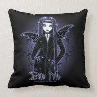 Mina Gothic Blue Bite Me Vampire Fairy Pillow throwpillow