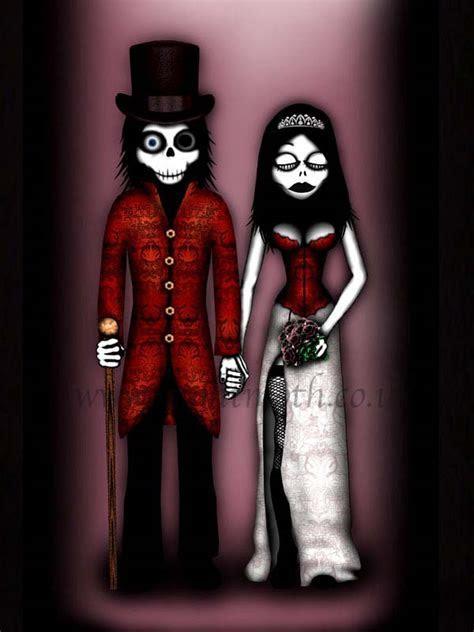 Halloween wedding cards   AlternaBrides