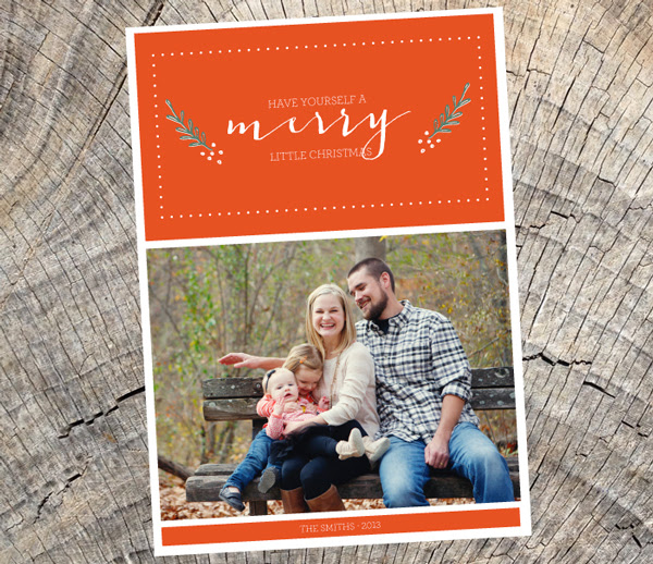 have yourself a merry little christmas - photo card
