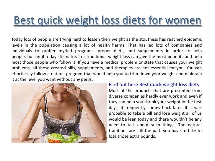 Best quick weight loss diets for women