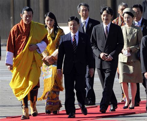Queen Jetsun Pema and King Jigme of Bhutan visit Japan