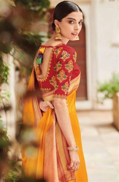 Best stunning latest saree blouse neck design   Simple