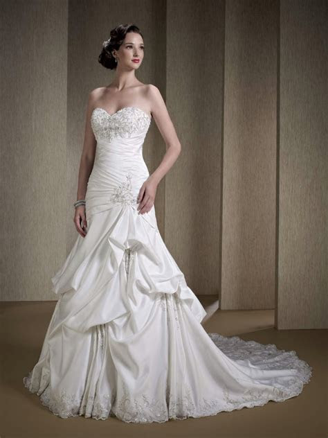 satin strapless wedding dress private label   kenneth