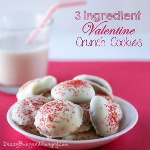 Only 3 ingredients and no baking make for a really happy Valentine's Day for everyone!