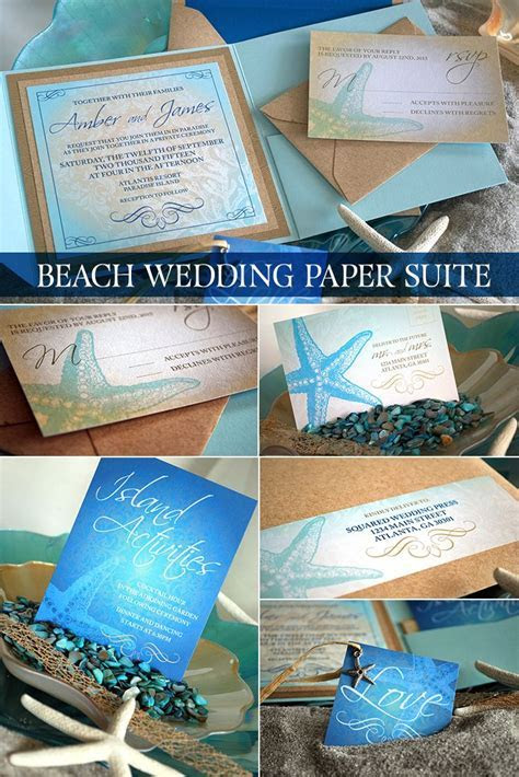 Beach Wedding Invitation   SAMPLE   Destination Wedding