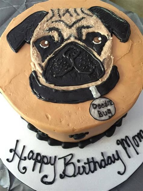 Pug Birthday Cake   Amys Apples   Pinterest   Birthday