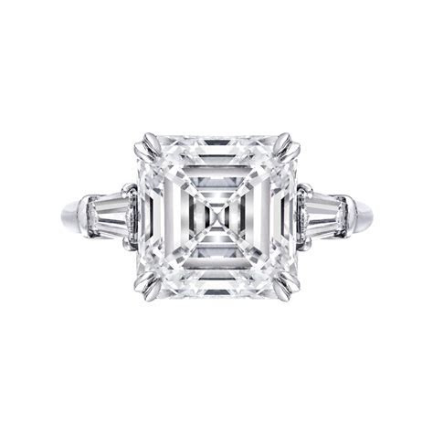 Estate 5.24 Carat Emerald Cut Diamond Engagement Ring