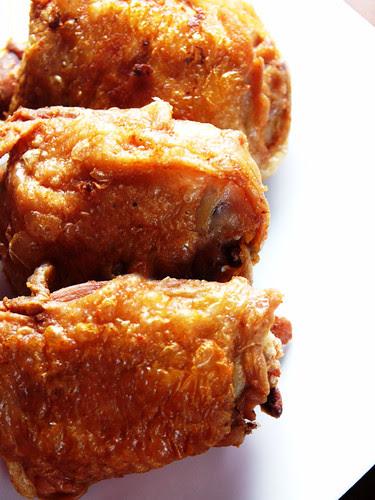 duck fat fried chicken thighs