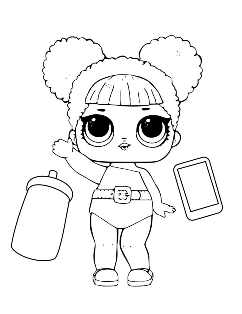 Lil Queen Lol Surprise Doll Coloring Page Auto Electrical Wiring