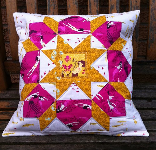 Finished Swoon Cushion by fionapoppy