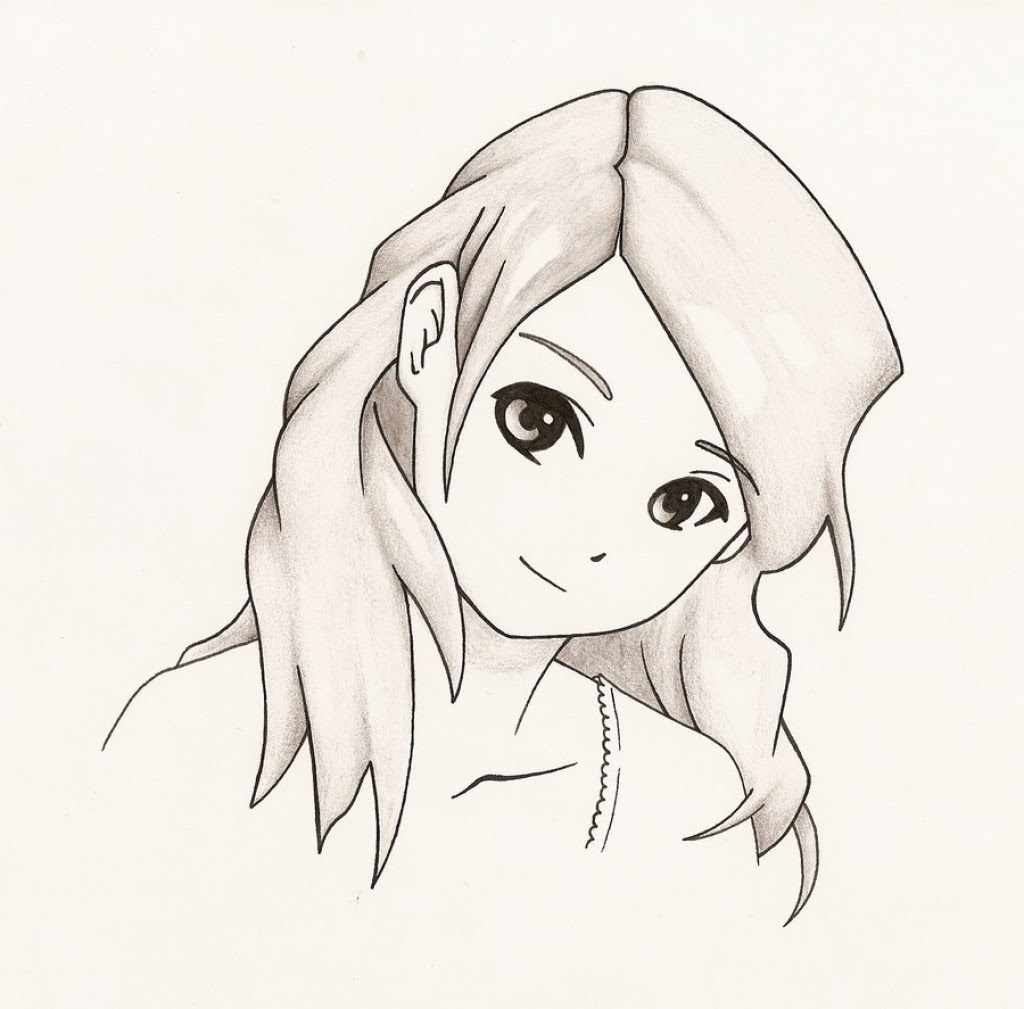 Anime Girl Drawing Easy - Carinewbi