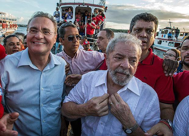 Renan Calheiros e Lula, em Alagoas