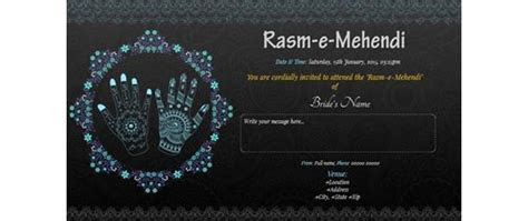 Free Ladies Sangeet/Mehndi ceremony Invitation Card
