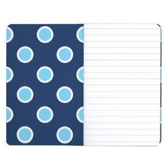 Light Blue Polka Dots on Navy Pocket Journal
