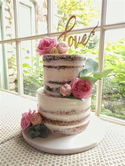 Image result for two tier semi frosted cake   cake