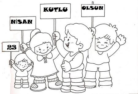 23 Nisan Ulusal Egemenlik çocuk Bayramı Boyama Sayfaları