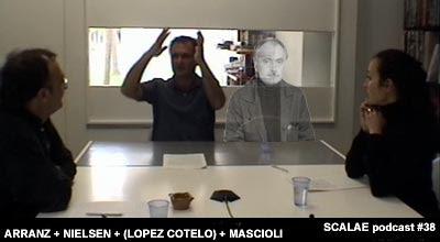 reunión figurada: Gustavo Nielsen y Victor Lopez Cotelo en el Centro de Enlace de Barcelona