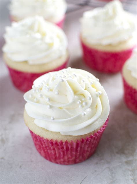 Almond Cupcakes with Whipped Almond Buttercream Frosting