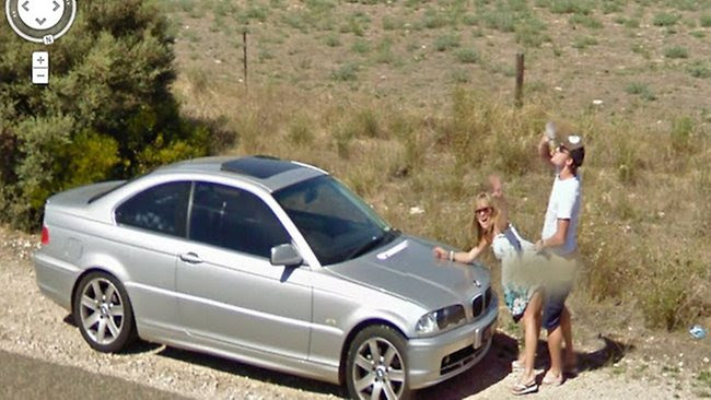 Google street view couple